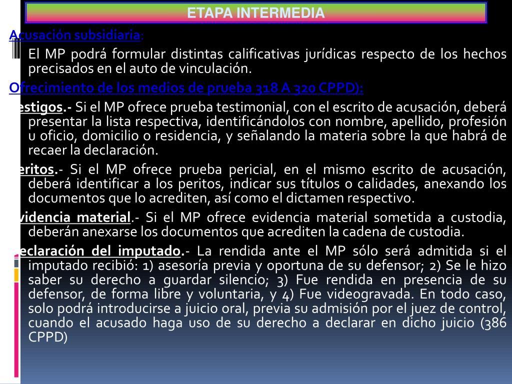 ETAPA INTERMEDIA