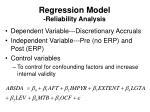 regression model reliability analysis