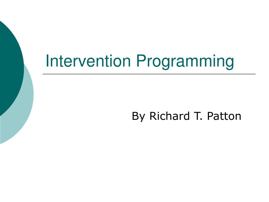 Intervention Programming