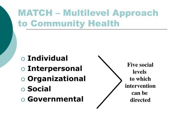 Match multilevel approach to community health