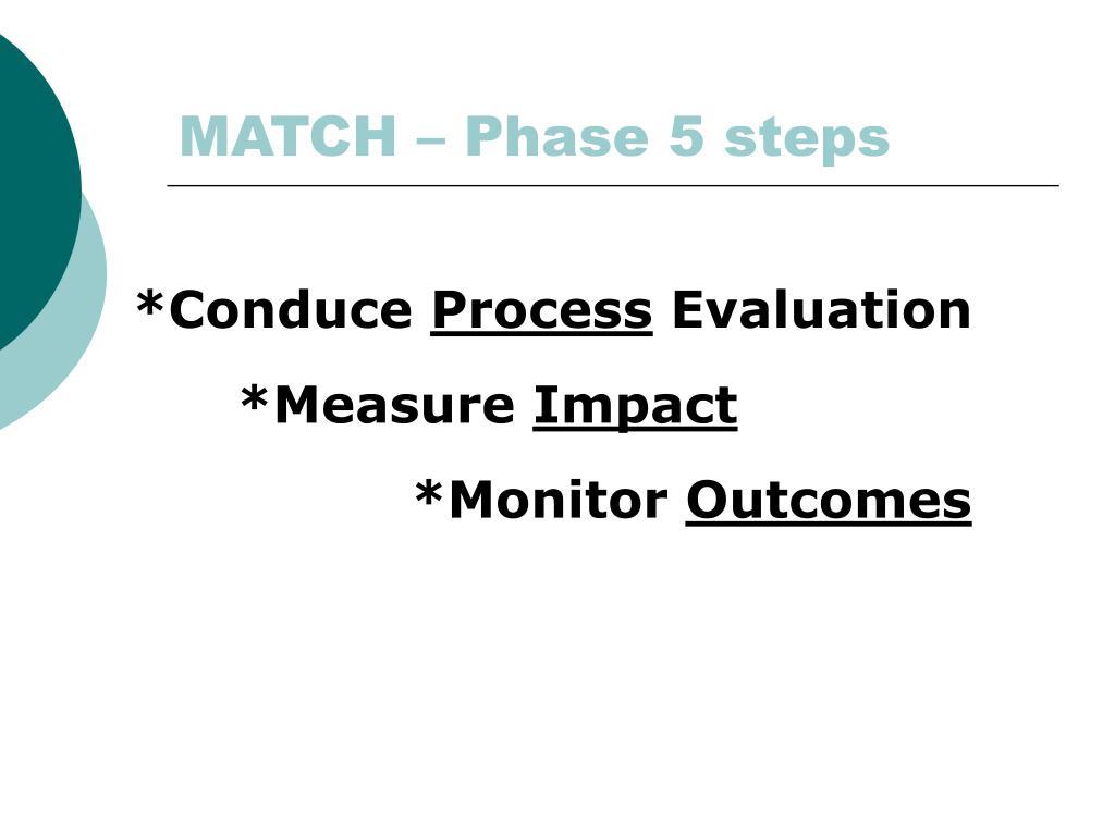 MATCH – Phase 5 steps