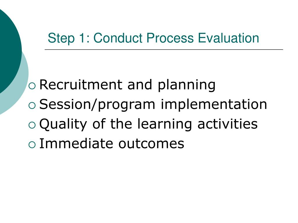 Step 1: Conduct Process Evaluation