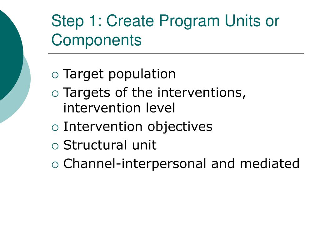 Step 1: Create Program Units or Components