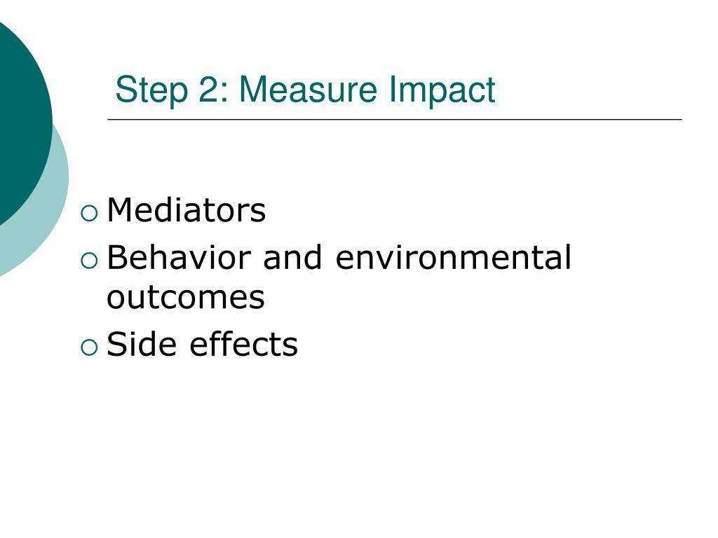 Step 2: Measure Impact