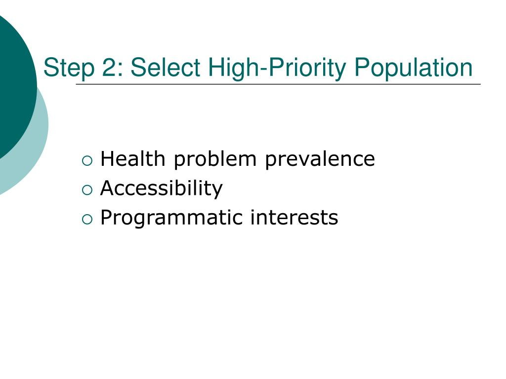 Step 2: Select High-Priority Population
