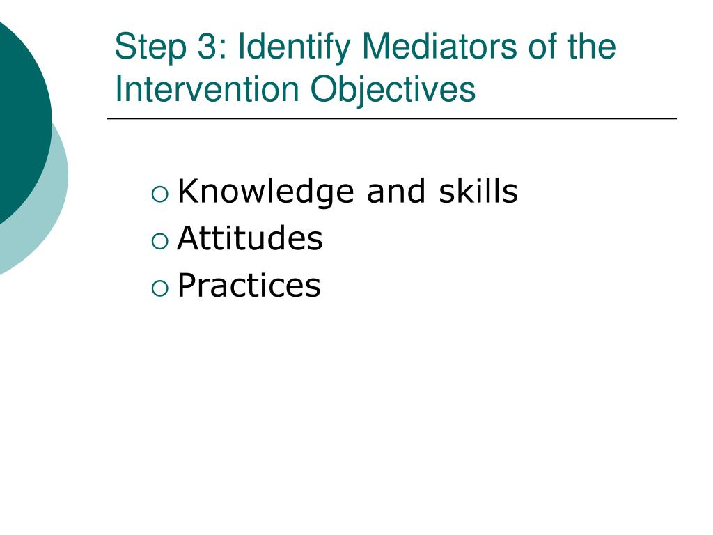 Step 3: Identify Mediators of the Intervention Objectives