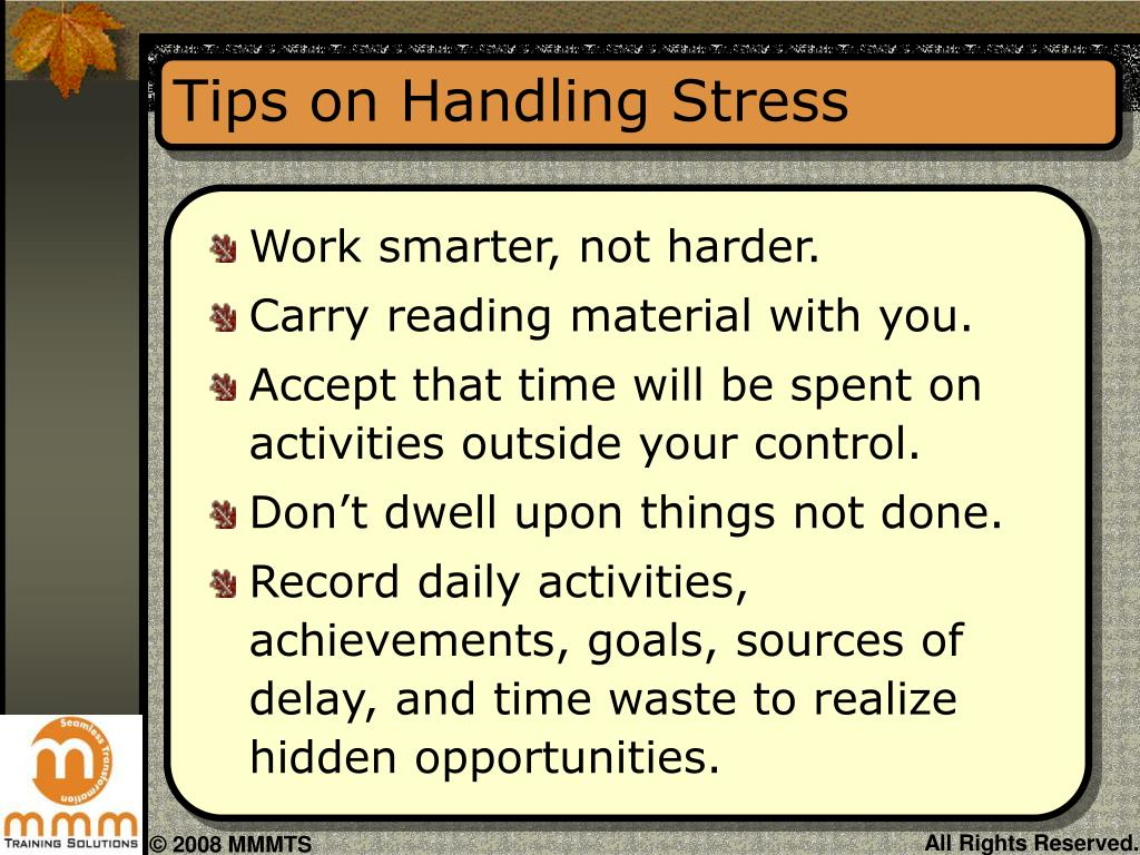 Tips on Handling Stress