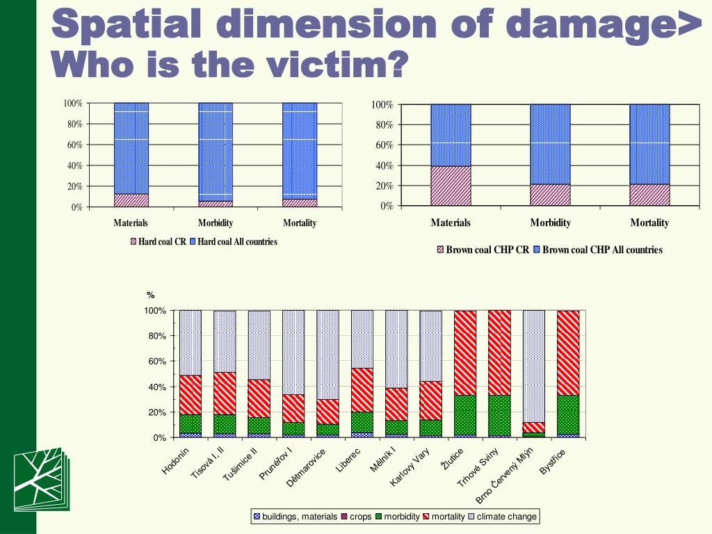 Spatial dimension of damage
