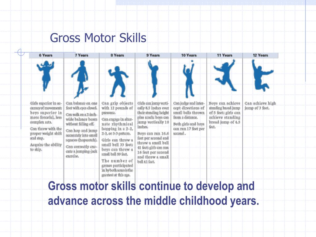 developing gross motor skills in preschoolers ppt middle childhood physical amp cognitive development 513