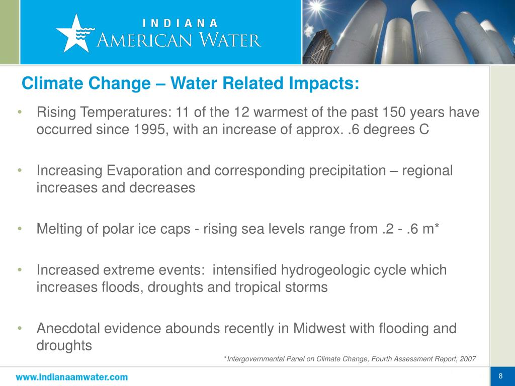 Climate Change – Water Related Impacts: