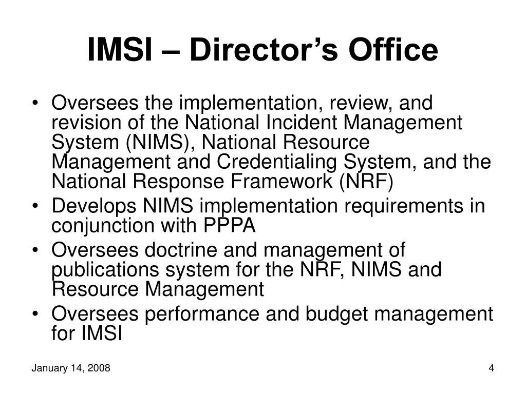 IMSI – Director's Office