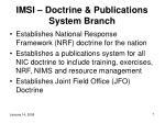 imsi doctrine publications system branch