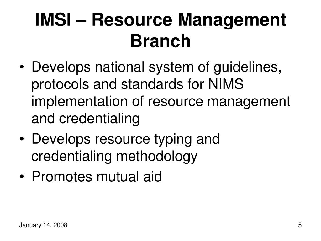 IMSI – Resource Management