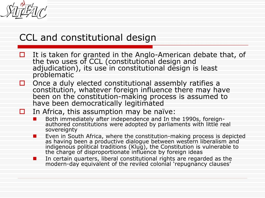CCL and constitutional design