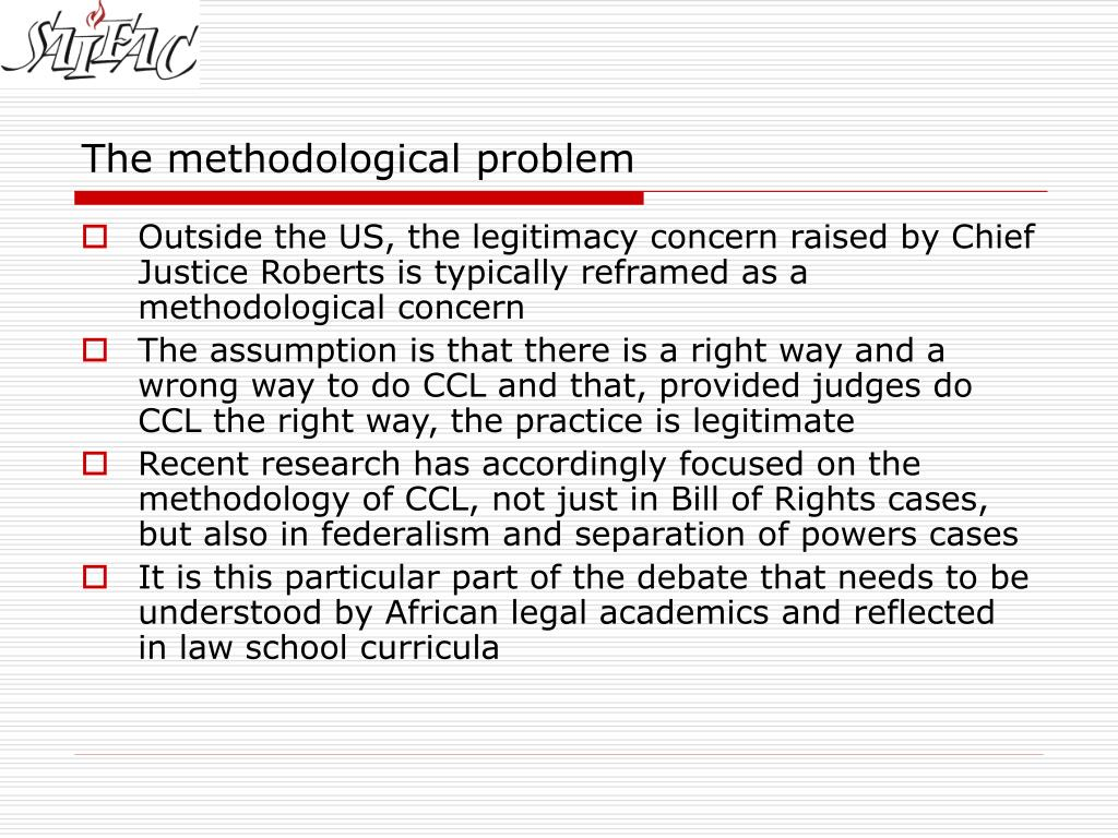 The methodological problem