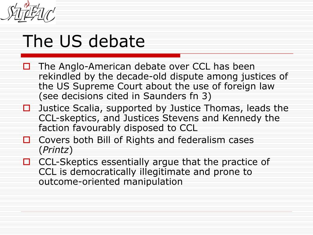 The US debate