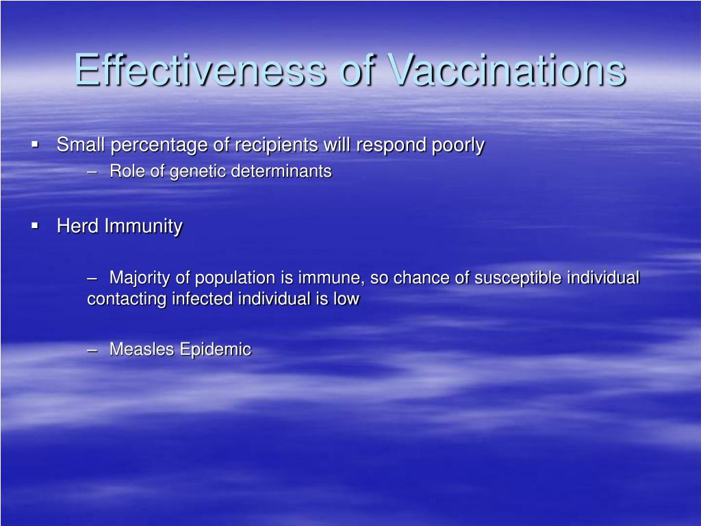 Effectiveness of Vaccinations