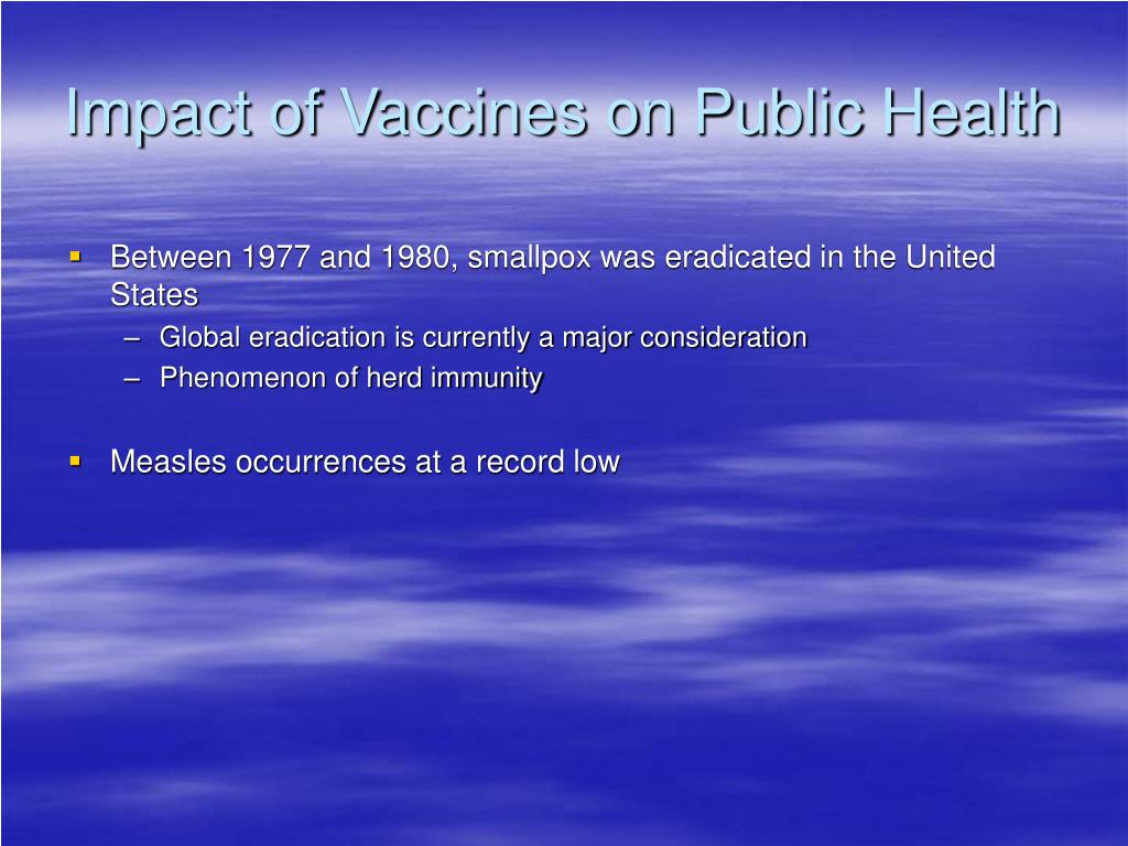 Impact of Vaccines on Public Health