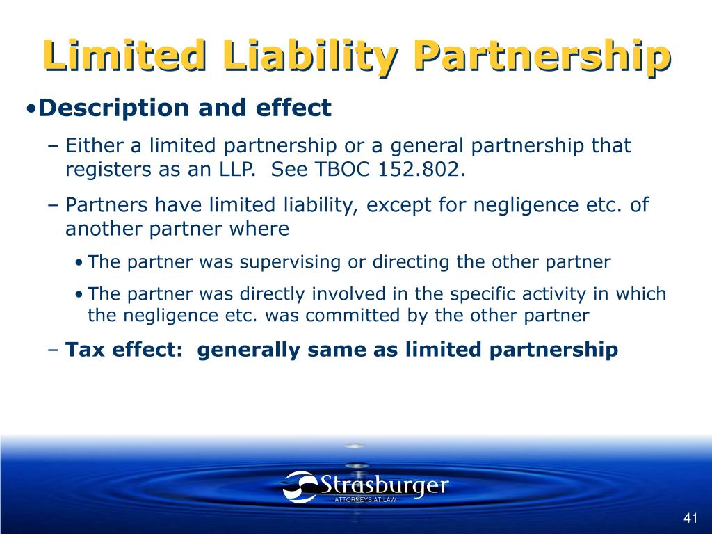 Limited Liability Partnership
