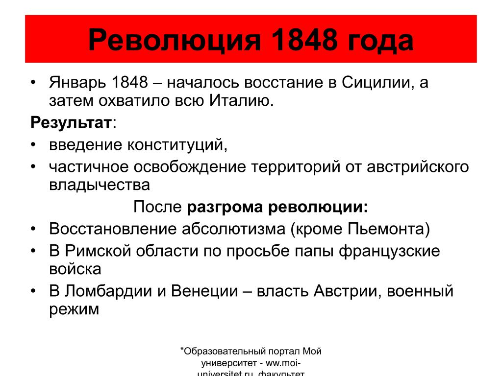 Революция 1848 года