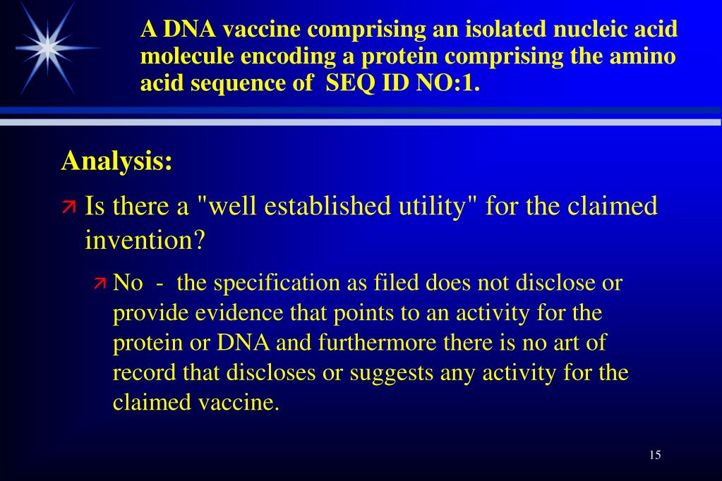 A DNA vaccine comprising an isolated nucleic acid molecule encoding a protein comprising the amino acid sequence of  SEQ ID NO:1.