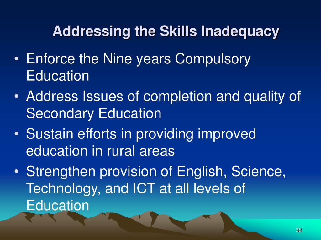 Addressing the Skills Inadequacy