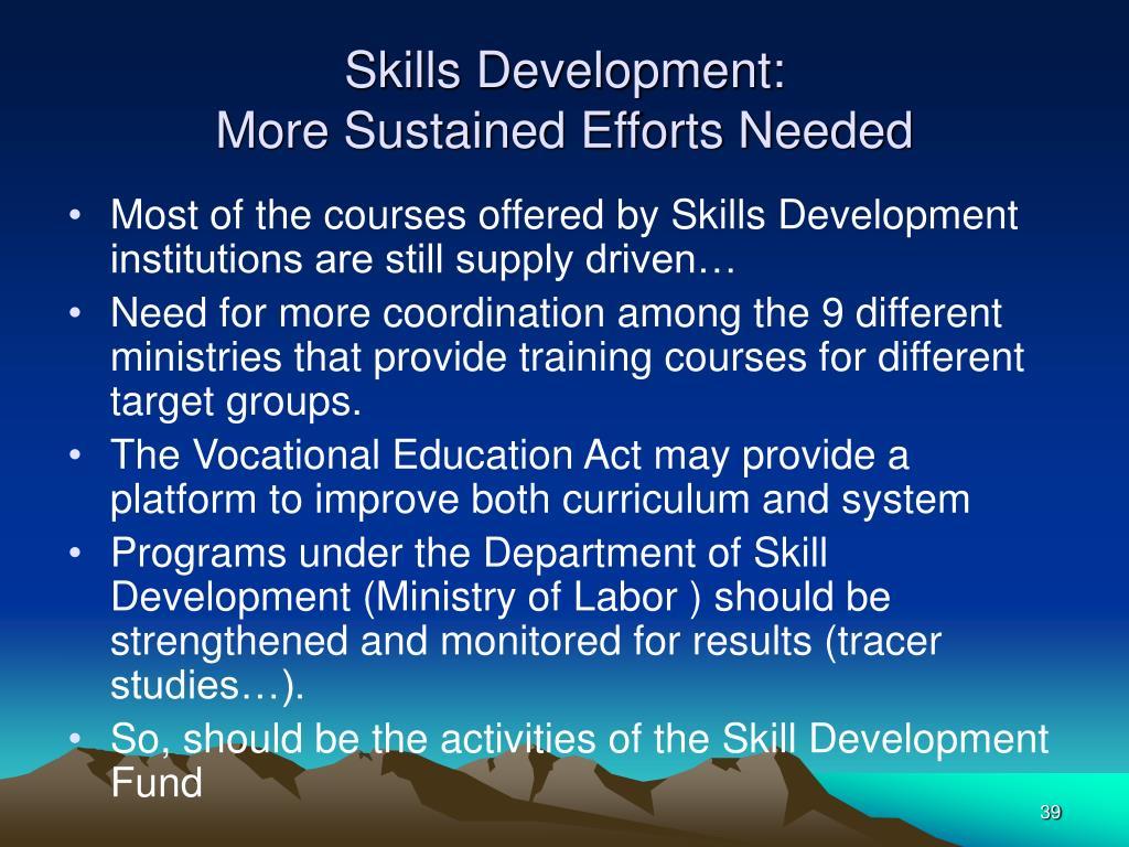 Skills Development: