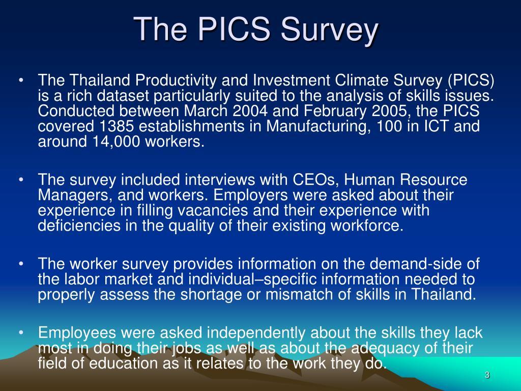 The PICS Survey
