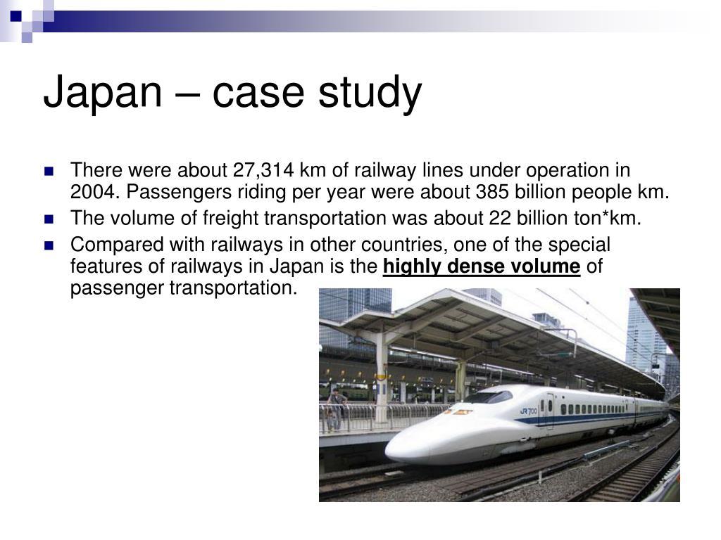 Japan – case study