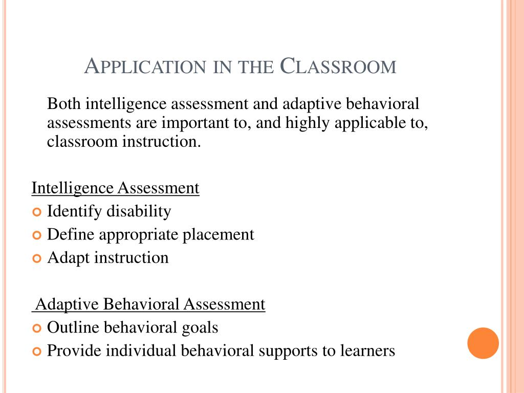 meanings of intelligence and adaptive behavior essay