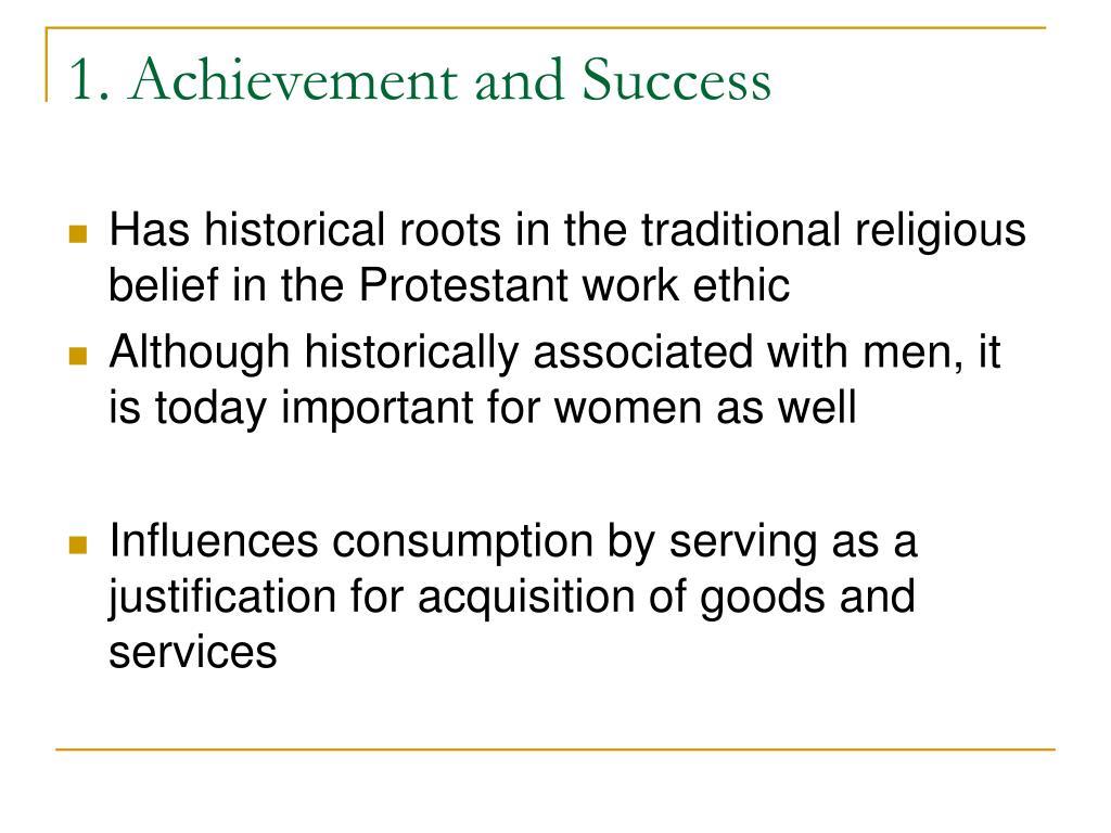1. Achievement and Success