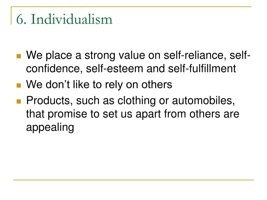 6. Individualism