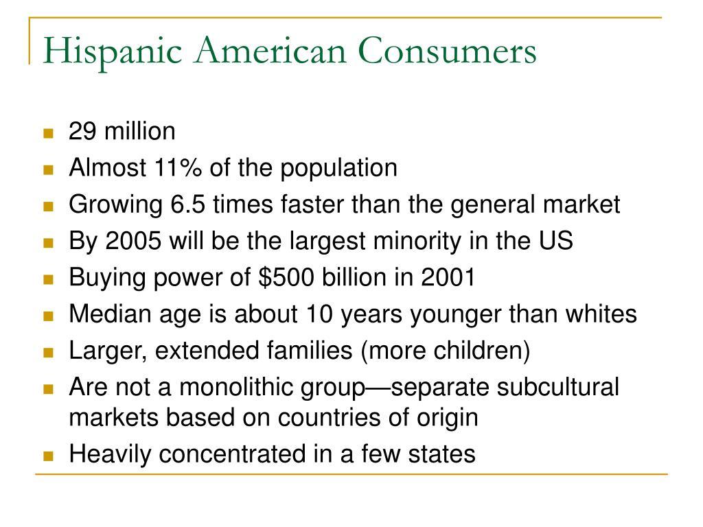 Hispanic American Consumers