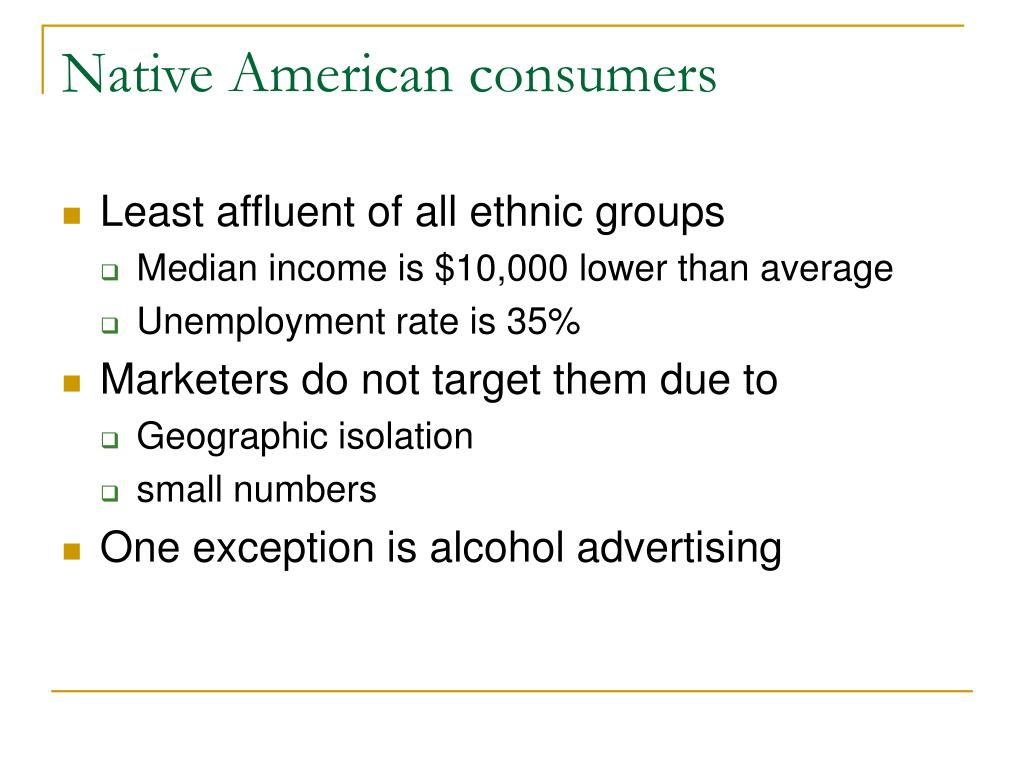 Native American consumers