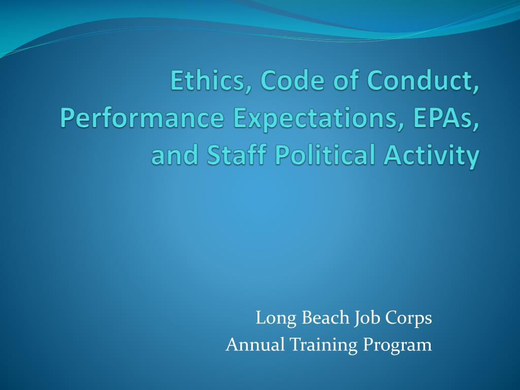 code of conduct in the workplace essay