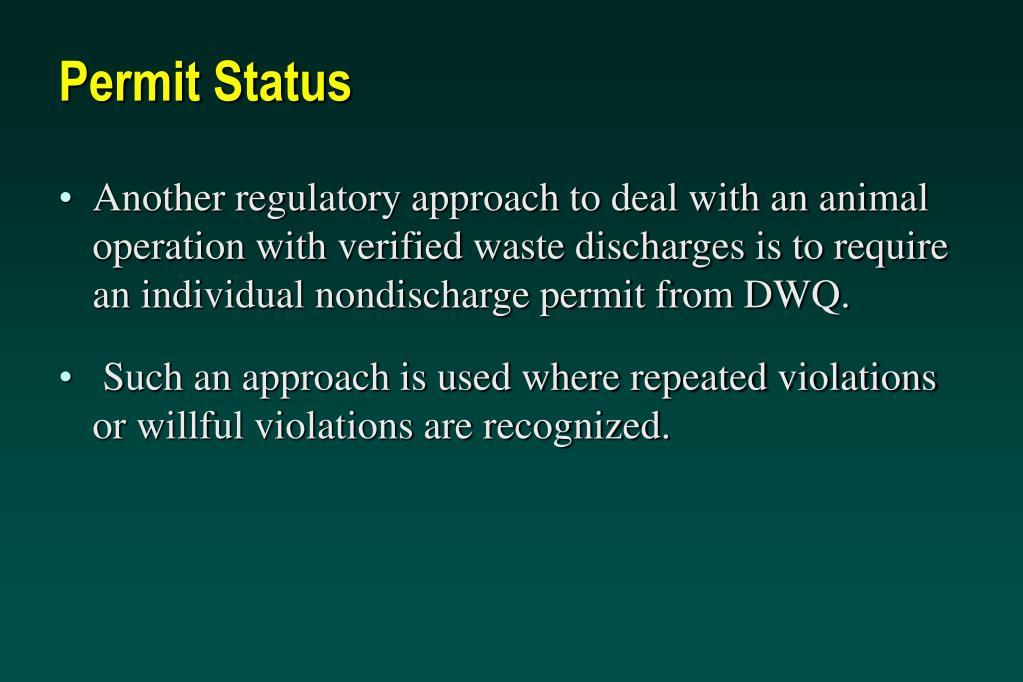 Permit Status