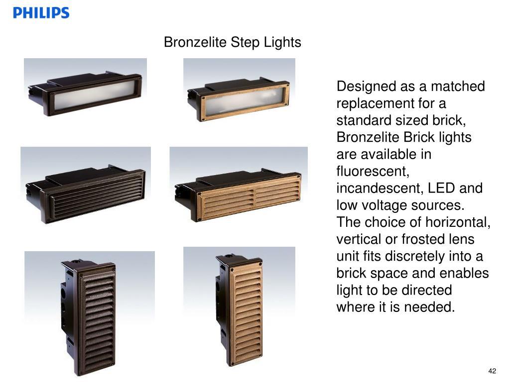 Bronzelite Step Lights