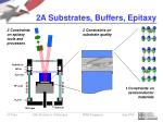 2a substrates buffers epitaxy