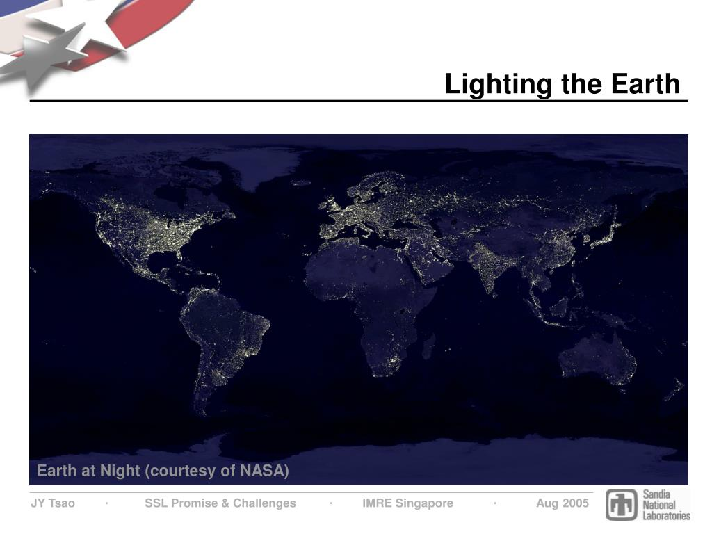 Lighting the Earth