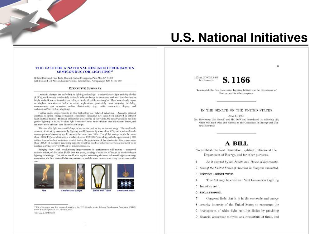 U.S. National Initiatives