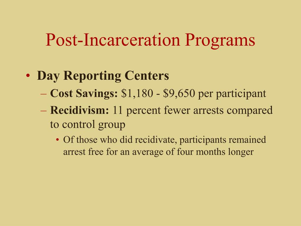 Post-Incarceration Programs