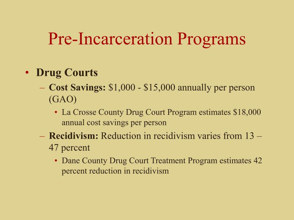 Pre-Incarceration Programs
