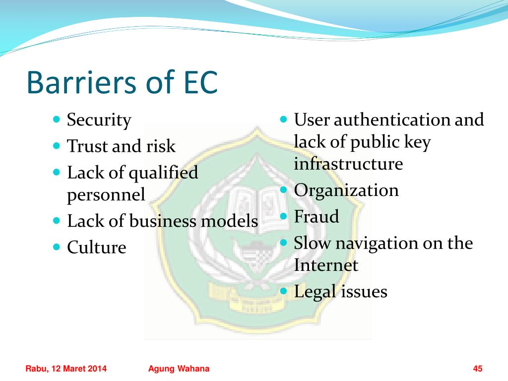 Barriers of EC