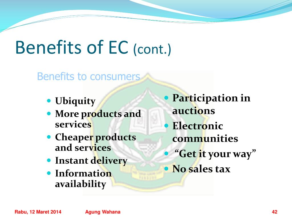 Benefits of EC