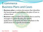 e commerce business plans and cases