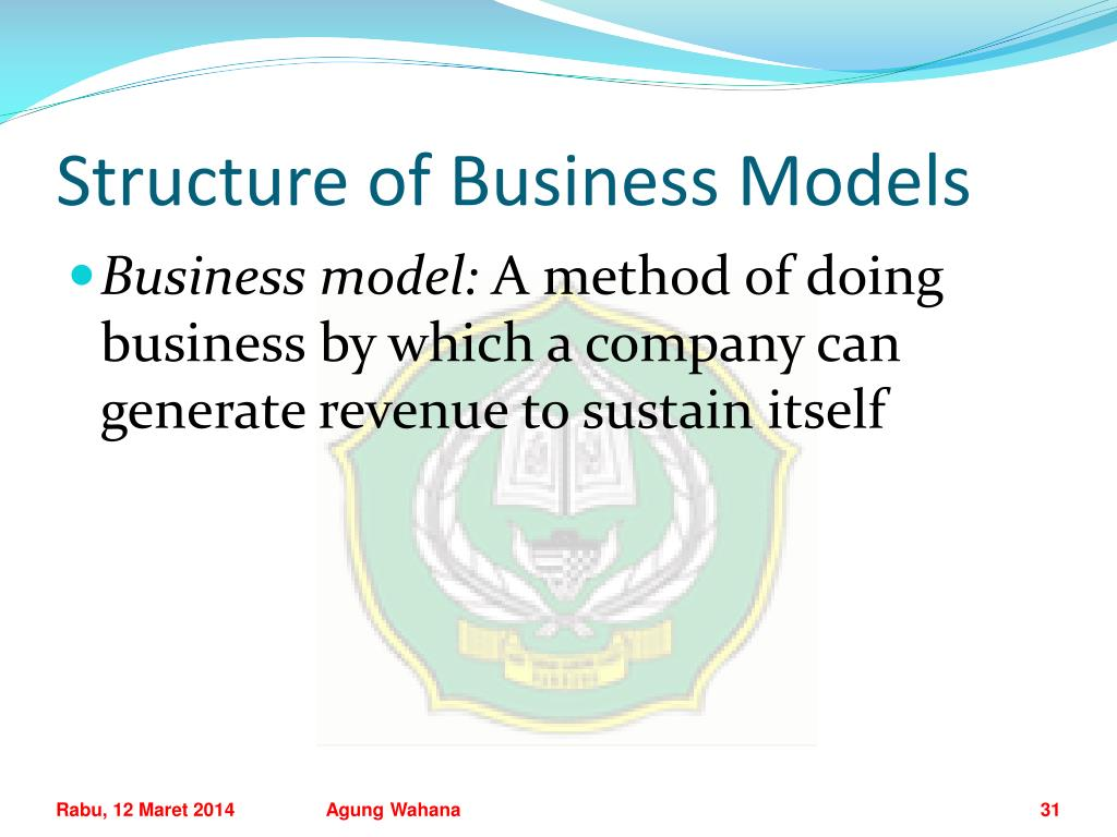Structure of Business Models