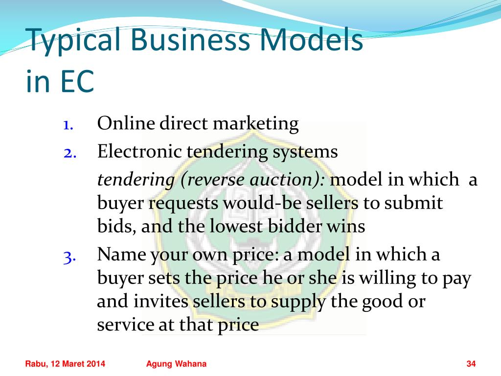 Typical Business Models