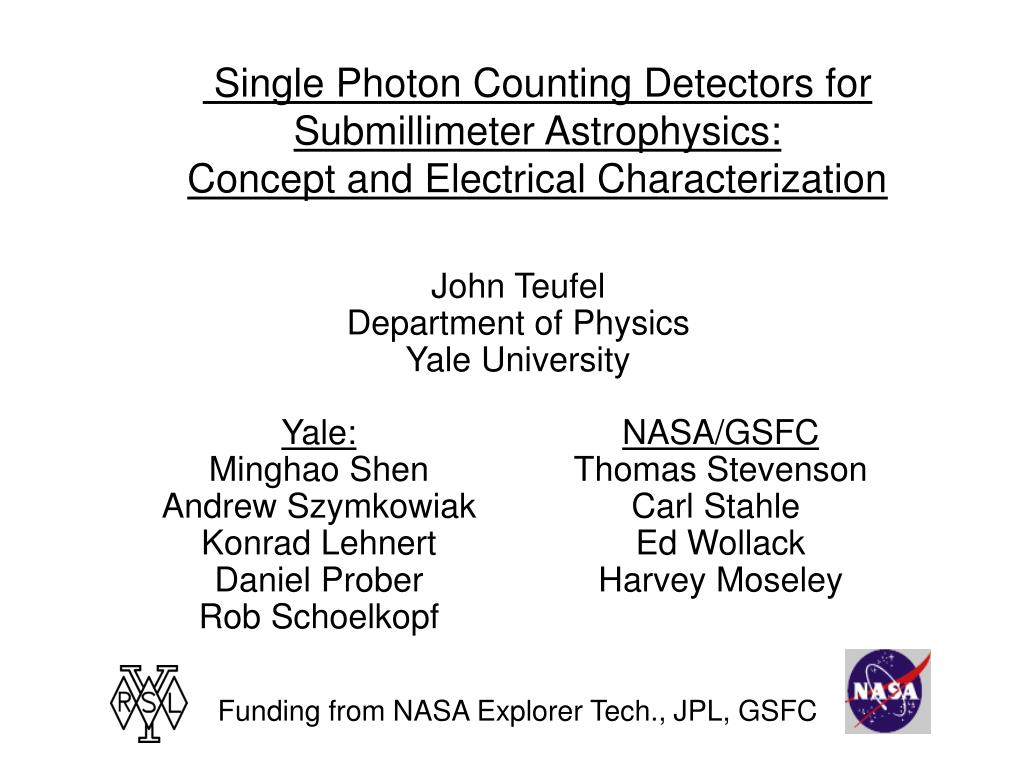 Single Photon Counting Detectors for Submillimeter Astrophysics: