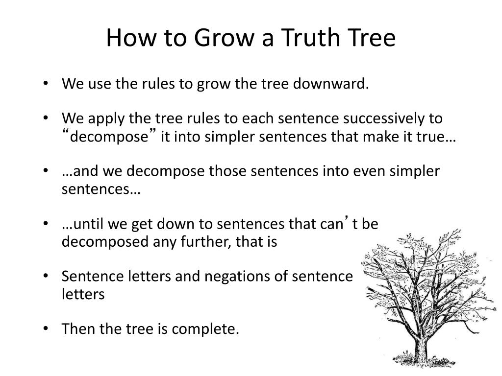 How to Grow a Truth Tree