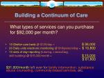 building a continuum of care